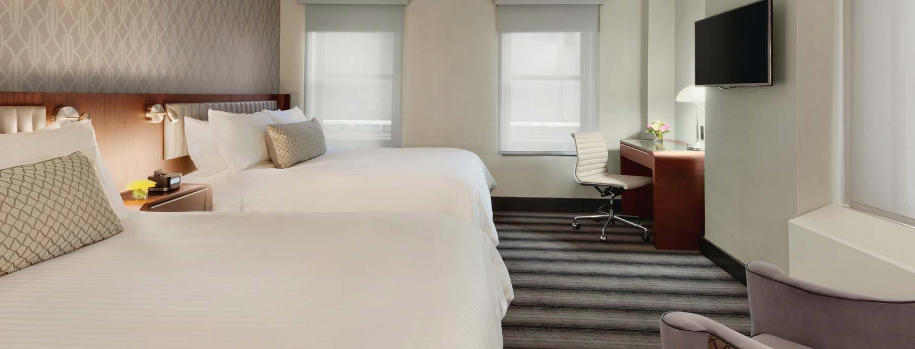 Rooms at Hotel Edison, New York