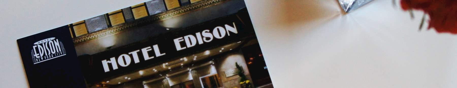 Email offer of Hotel Edison Newyork