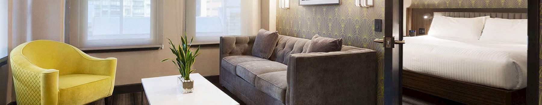 Rooms + Suites of Hotel Edison Newyork