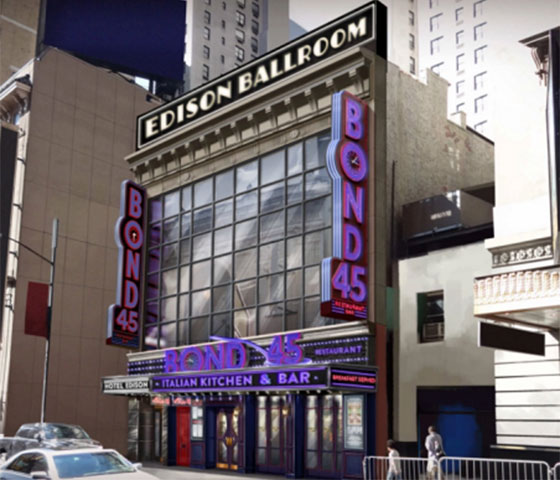 Bond 45 moving to Hotel Edison in 2016